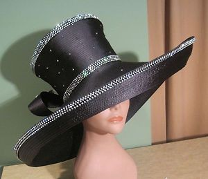 Black Church Hats
