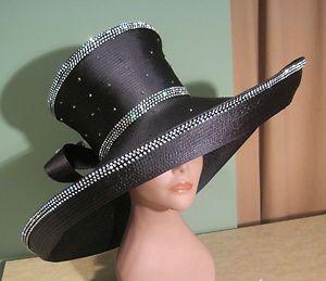 Black Church Hats