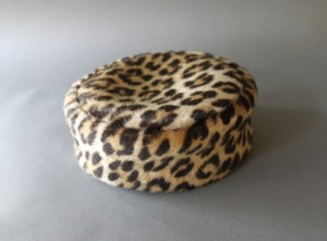 Leopard Pillbox Hat