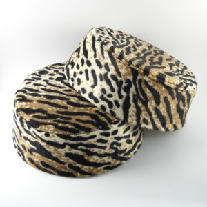 Leopard Skin Pillbox Hat