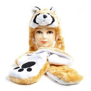 Plush Animal Hats with Paws