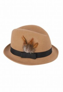 Trilby Hat with Feather