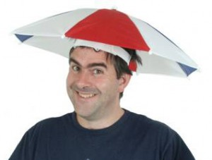 Umbrella Hat with Fan