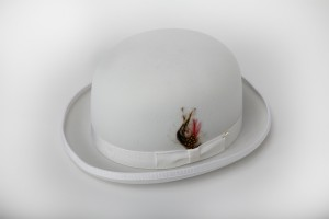 White Derby Hat