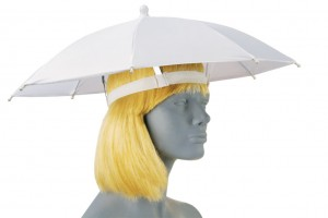 White Umbrella Hat