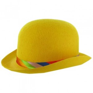 Yellow Derby Hat