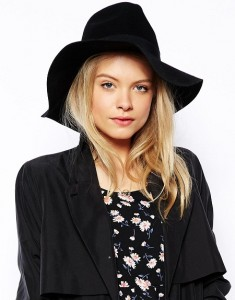 Black Floppy Fedora Hat