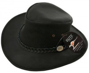 Black Leather Hat