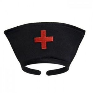Black Nurse Hat