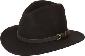 Black Wide Brim Fedora Hat
