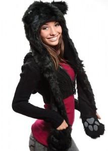 Black Wolf Hat