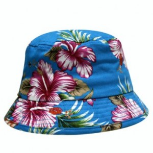 Blue Floral Bucket Hat