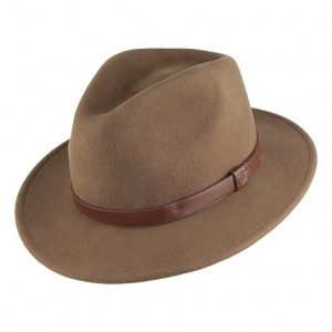 Brown Fedora Hat for Kids