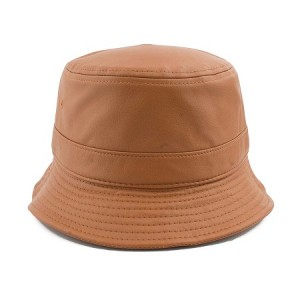Brown Leather Bucket Hat