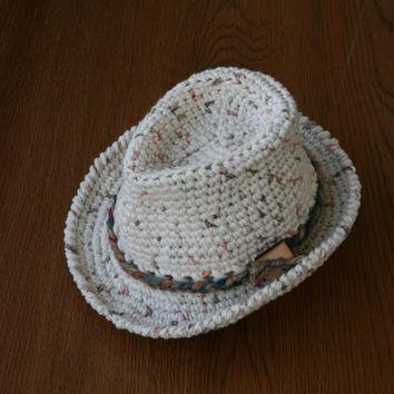 Free Crochet Baby Fedora Pattern