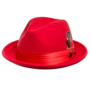Fedora Hat Red