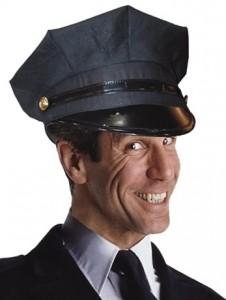 Grey Chauffeur Hat