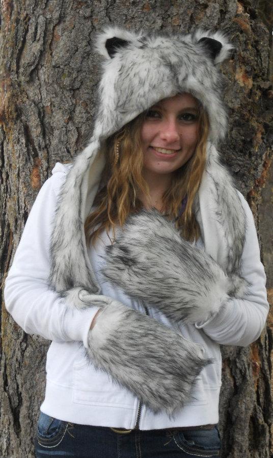 wolf hats hat grey