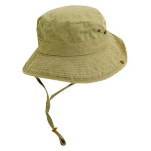 Khaki Bucket Hat with String