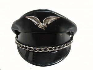 Leather Biker Hat