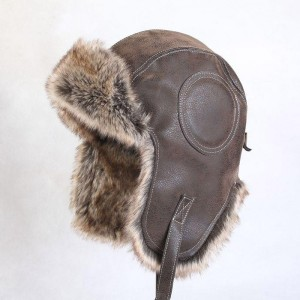 Leather Bomber Hat