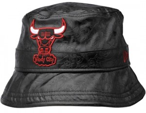 Leather Bulls Bucket Hat