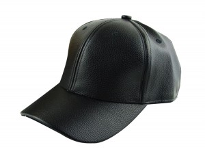Leather Fitted Hat