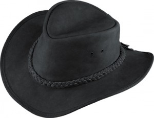 Leather Outback Hat