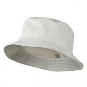 Mens White Bucket Hat