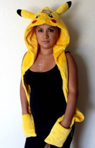 Pikachu Hat with Gloves