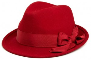 Red Fedora Hat for Women