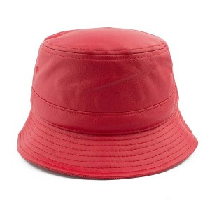 Red Leather Bucket Hat