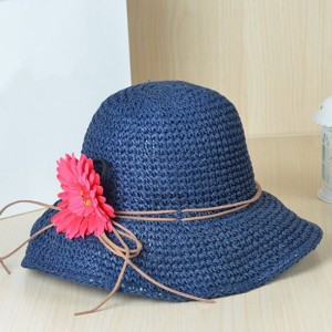 Straw Bucket Hat Womens