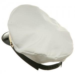 White Chauffeur Hat