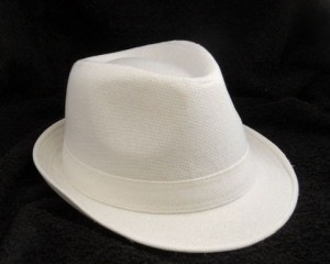 White Fedora Hat for Men