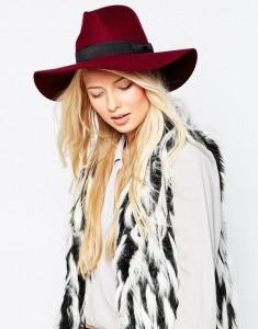 Wide Brim Wool Fedora Hat