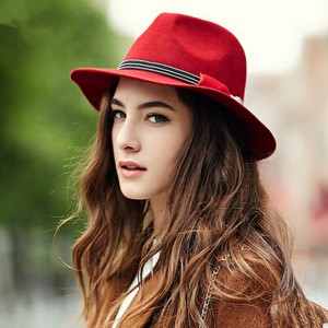 Wool Fedora Hat Women